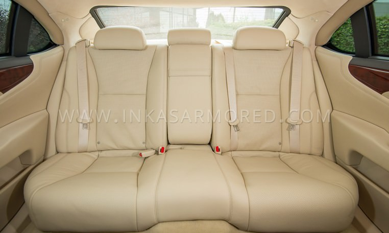 Armoured Lexus LS460 L Interior Rear
