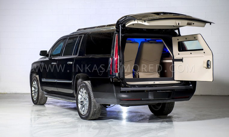 Cadillac Escalade Limousine Rear Door Open