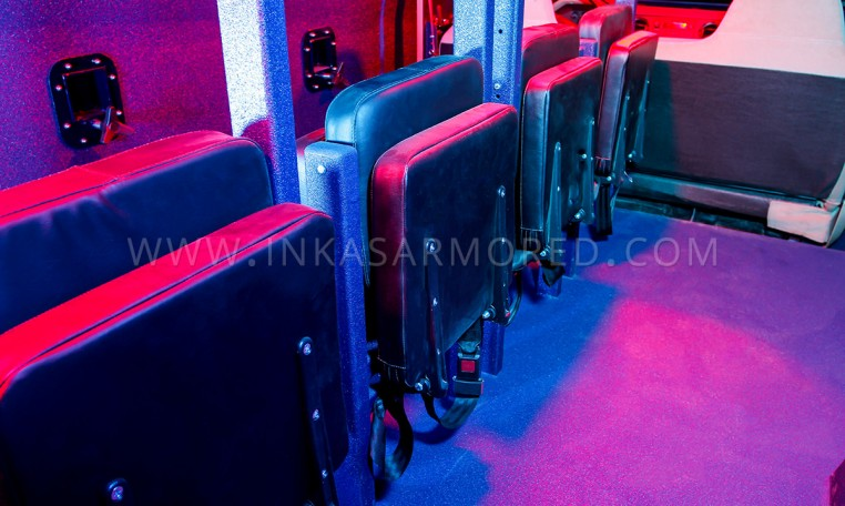 INKAS Armored APC LAPV Tactical Seating Nigeria