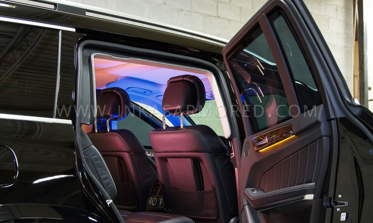 Mercedes-Benz Armored GL-550 Rear Seats