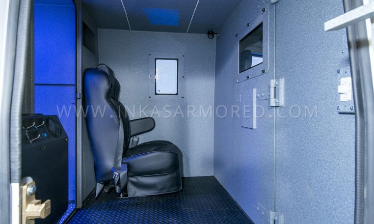Armored Cash In Transit Vehicle Middle Compartment