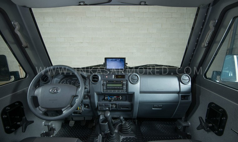 Armored Ford F-550 Cash In Transit Vehicle Front Cabin Nigeria