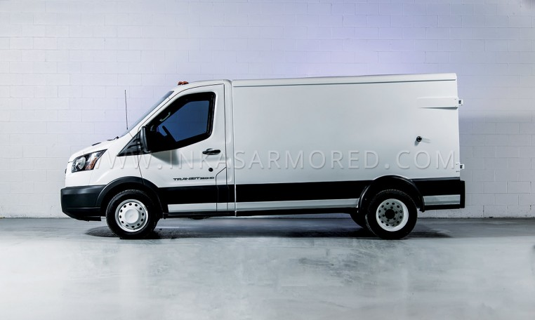 Armored Ford Transit CIT Truck Side View Nigeria