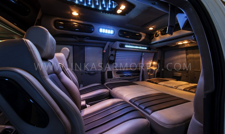 Armored GMC Limo Interior Nigeria