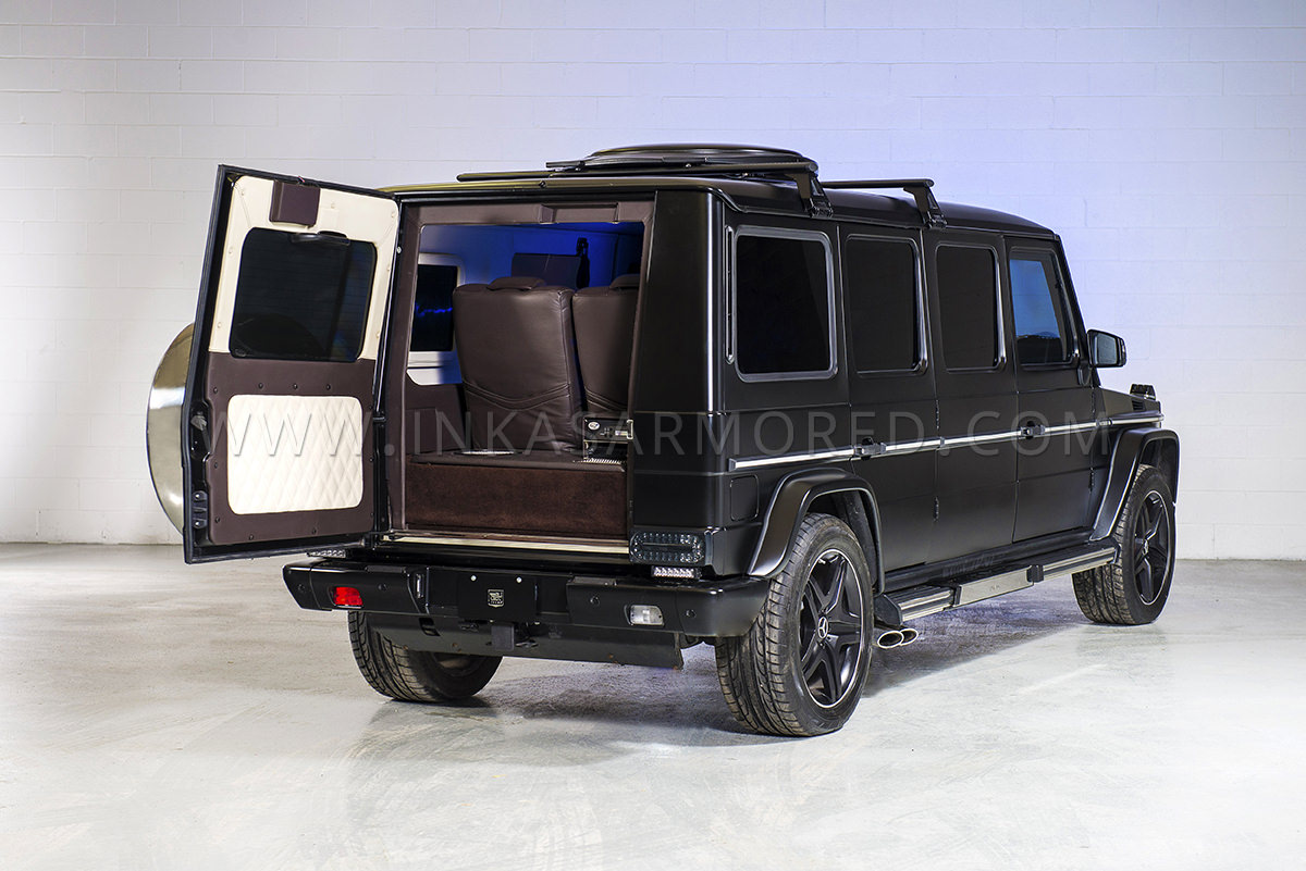 Mercedes-Benz G63 AMG Armored Limousine For Sale - Armored Vehicles
