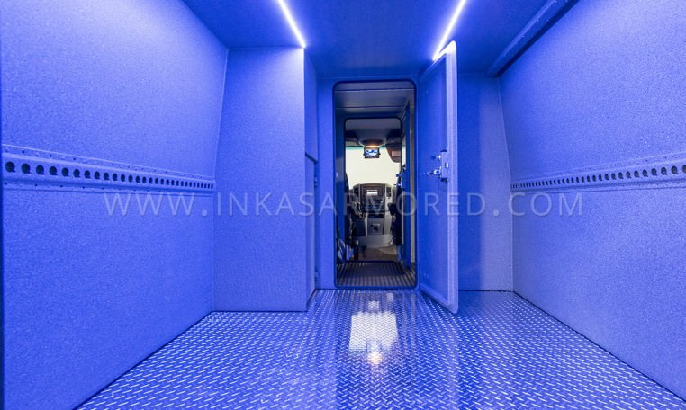 Armored Sprinter Cash In Transit Vehicle Rear Compartment Nigeria